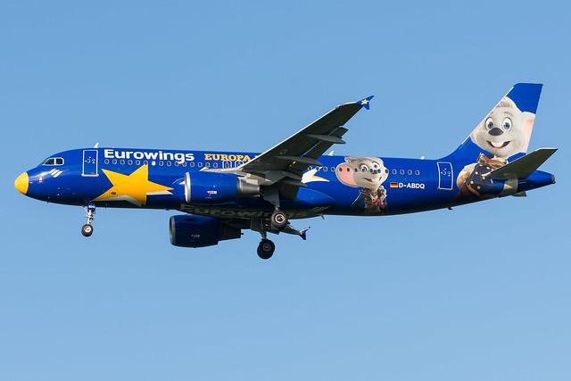 Eurowings / A320 / D-ABDQ / EDDK 32R