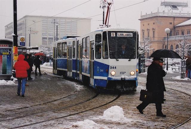 Tatra KT4YU ZET 344 Zagreb Croatie Hrvatska 1997a