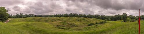 vicksburg national military park fort garrott view mississippi