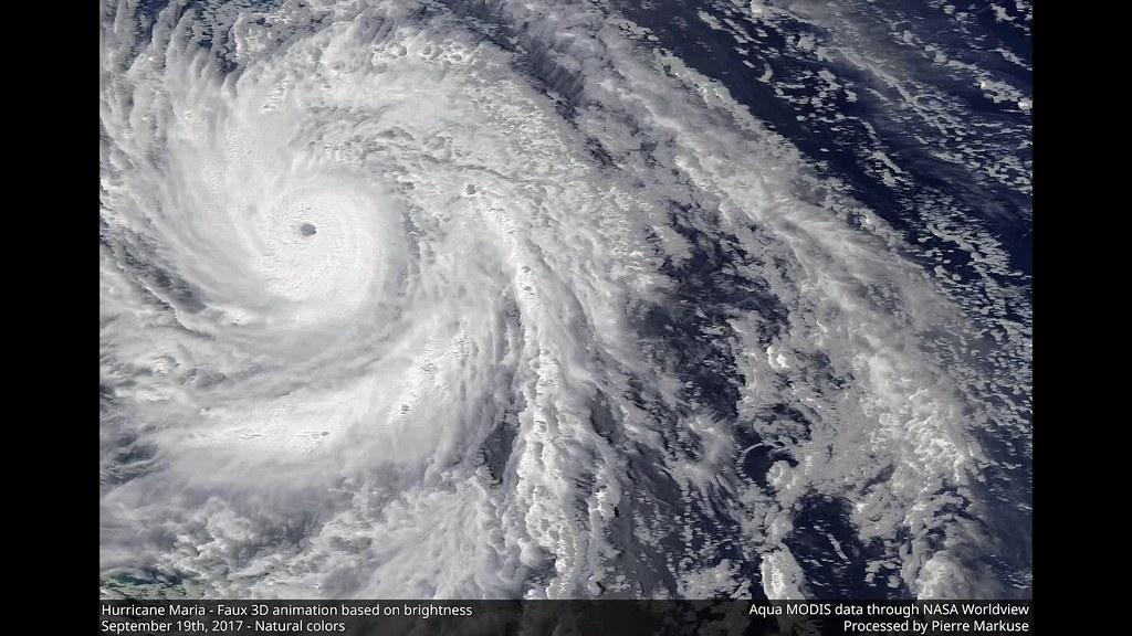 Hurricane Maria faux 3D animation