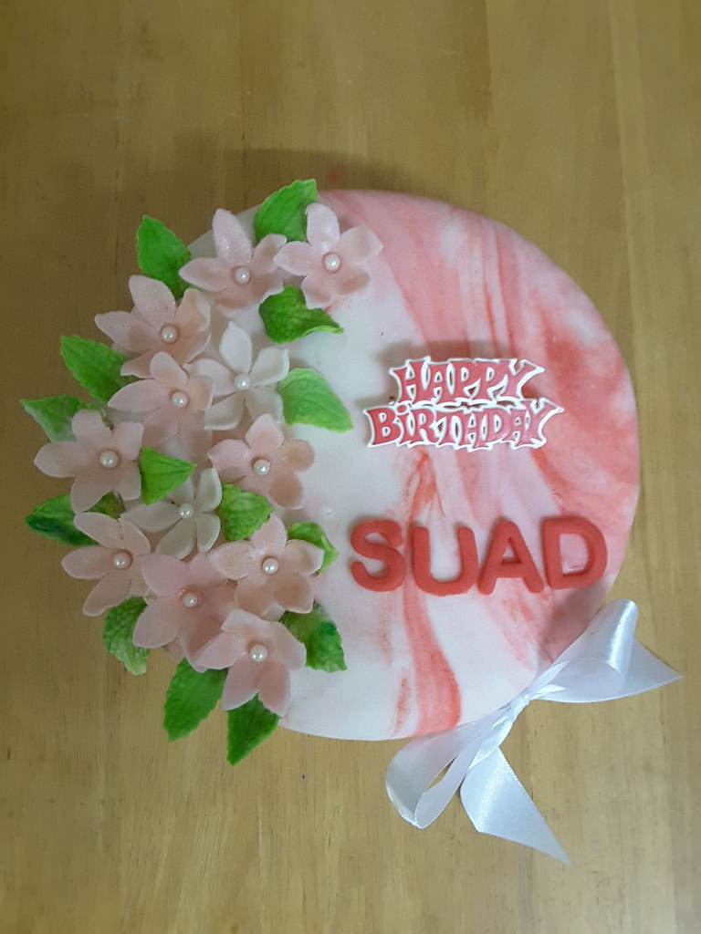 Marvelous Simple Birthday Cake I Made This Small Butter Cake Covered Flickr Personalised Birthday Cards Veneteletsinfo