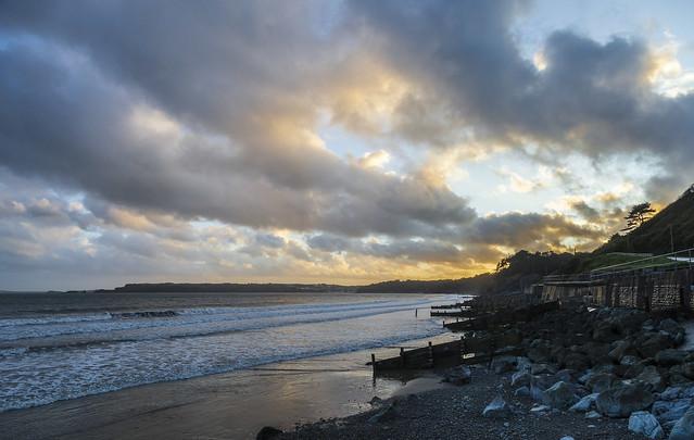 Sunset at Amroth Beach