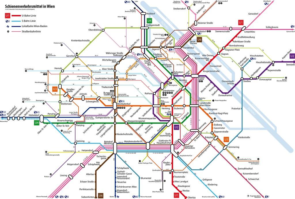 Wiener Linien Plan 2017 Der Plan Der öffentlichen Verkehrs Flickr