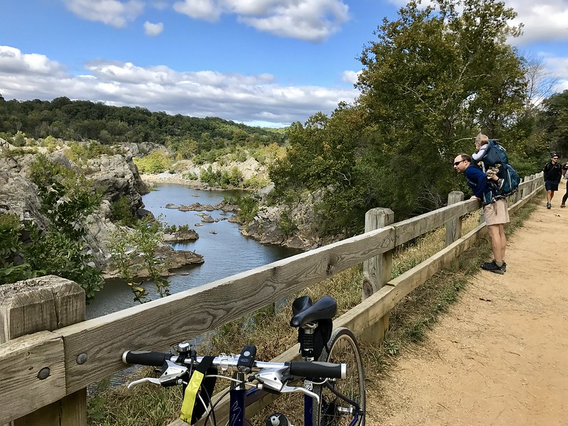 Biking back to DC from Great Falls