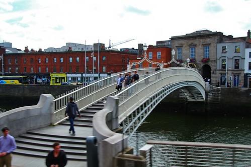 cruise2017norwayicelandireland europe ireland dublin outdoor city river bridge riverliffey hapennybridge cityview simplysuperb