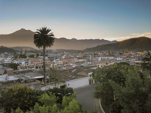 hostalchasqui palm ecuador town landscape sunset otavalo mountain provinciadeimbabura ec