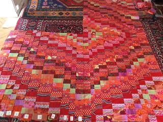 Kaffe Fassett Bargello patchwork quilt