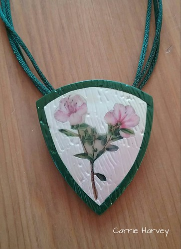 Liquid clay transfer pendant | by Beads from the Coast