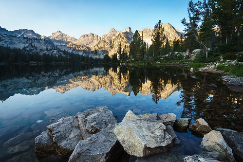 Early morning on Alice Lake. Sawtooth Wilderness, Idaho. | by ID Surfer
