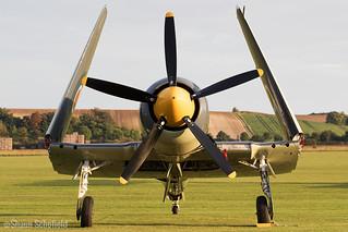 Hawker Sea Fury T20 VX281/G-RNHF Fly Navy Heritage Trust Duxford 23/09/17   by Shaun Schofield
