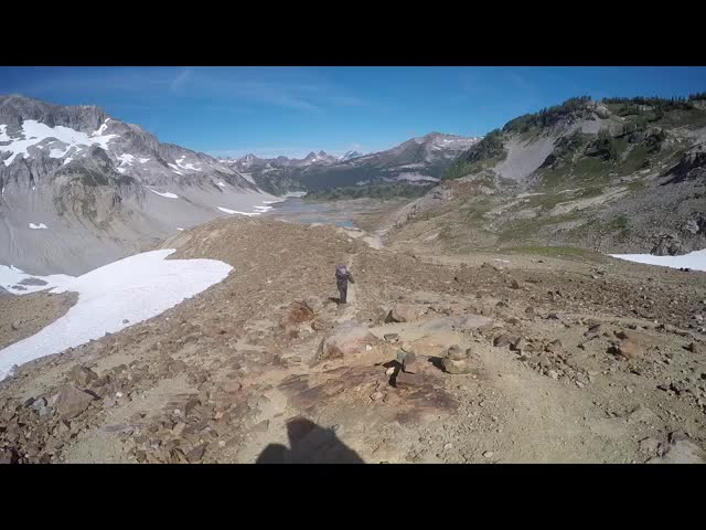 4763 GoPro video panorama from the Spider Gap Snowfield Route
