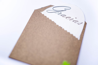 Brown thank you card: Gracias | by wuestenigel