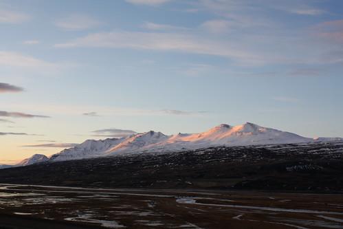 eyjafjörður iceland súlur sunrise
