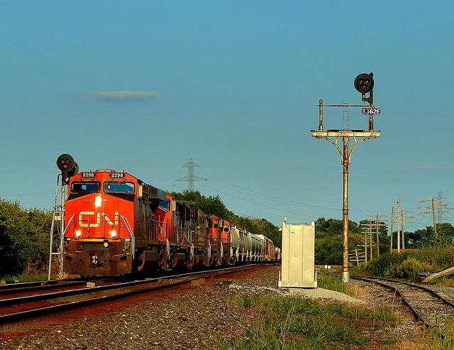 Westbound CN train at Brimfield Indiana