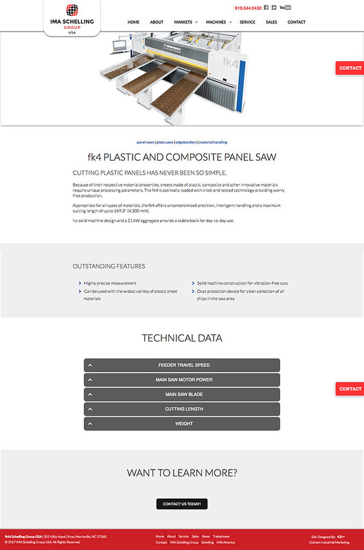 IMA Schelling Plastic Machine Equipment Page