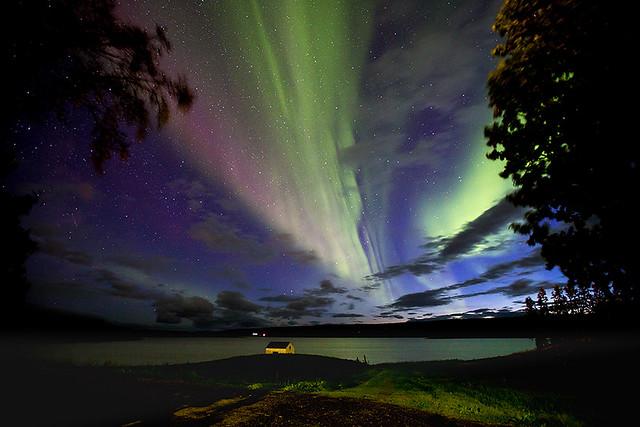 Aurora at Egilsstadir, Iceland