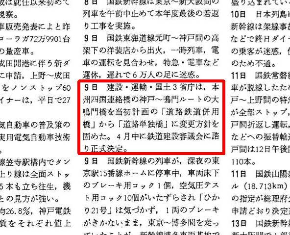 大鳴門橋も鉄道(新幹線)建設をやめるはずだった