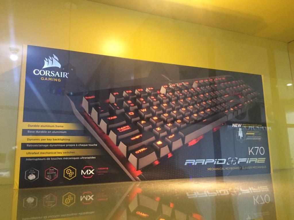 Ready Stock!!! New Mechanical Keyboard Corsair K70 RAPIDFI