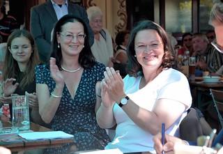 Jazzfrühschoppen von Uli Pfaffmann im Schlösselgarten mit Bundesarbeitsministerin Andrea Nahles   by claudiatausend