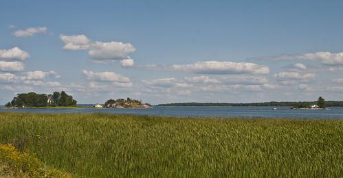 sky clouds water marsh island 1000islandsparkway ontario