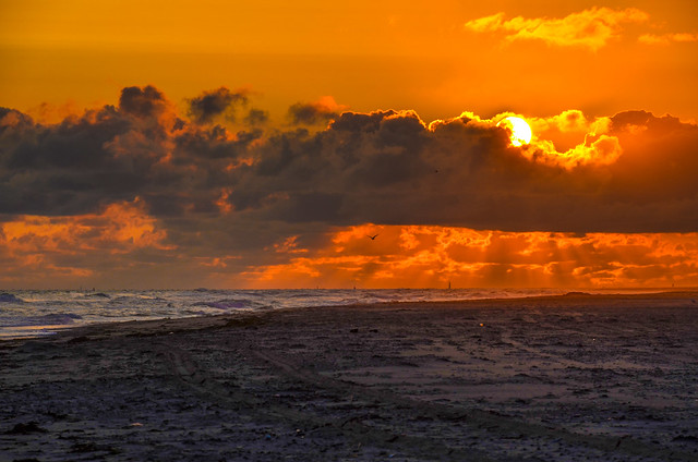 Vlieland - strand - westnoordwestenwind 3/4 bft.