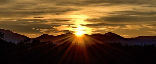 sunrise appalachian mountains