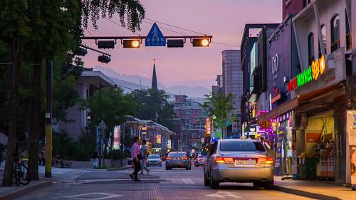 seoul korea street twilight dawn dusk city