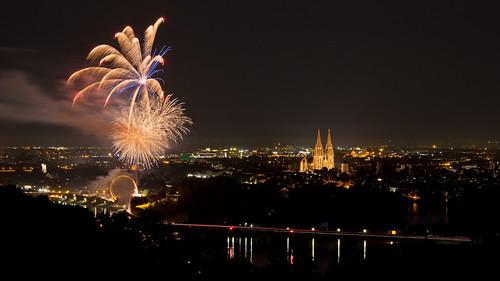 Regensburg Dult Feuerwerk