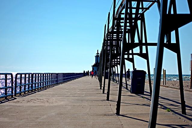 Peering Down the Pier