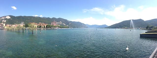 Panorama of Lake Iseo from Sarnico, Italy