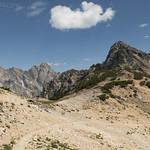 Mt. Woodring and Mt. Moran from Paintbrush Divide
