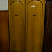 Tall oak two drawers wardrobe E180