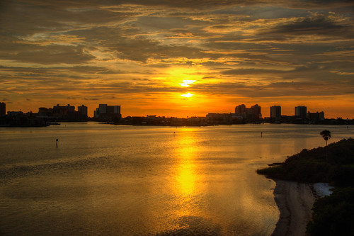 clearwater florida sunset beach water sky clouds hdr clearwaterbeach clearwaterflorida fl fla clearwaterfl landscape