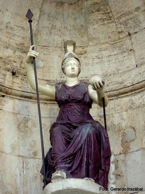 Piazza del Campidoglio. Diosa de Roma