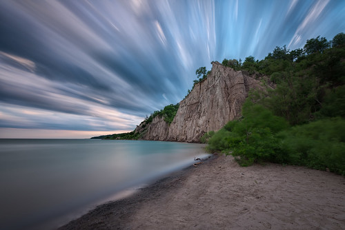 scarborough bluffs longexposure lake ontario canada sunset sky clouds sand beach rock nikon d800 landscape seascape outdoor water