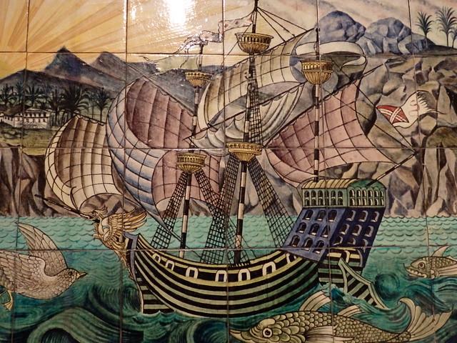 Detail, Galleon Tile Panel