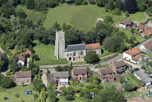 foxley church norfolk eastanglia england village aerialimagesuk aerialphotograph aerialimage aerial viewfromplane britainfromabove britainfromtheair hires highresolution hirez highdefinition hidef