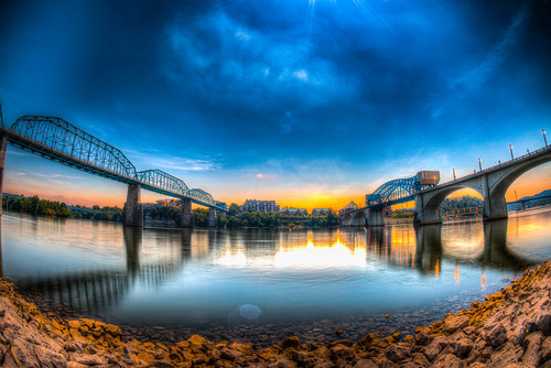 chattanooga tennessee nikon d5 fisheye eclipse marketstreetbridge walnutstreetbridge tennesseeriver eclipse2017 nikon16mmf28 hdr coolidgepark