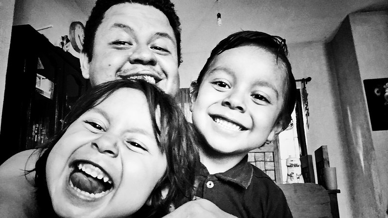 With the kids