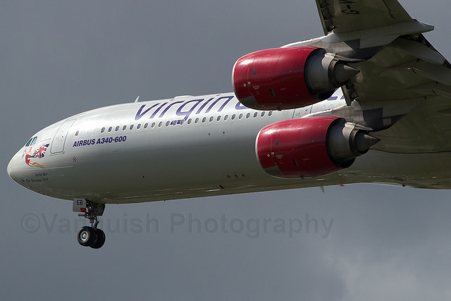 G-VWEB Virgin Atlantic Airways A340-600 London Heathrow Airport