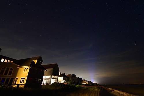 stars night sky de delaware bethany bethanybeach astro beach water ocean atlanticocean sand