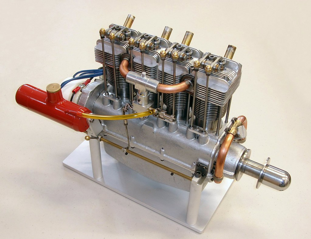 Cirrus Model Airplane Engine, 1/4-Scale, by Charles