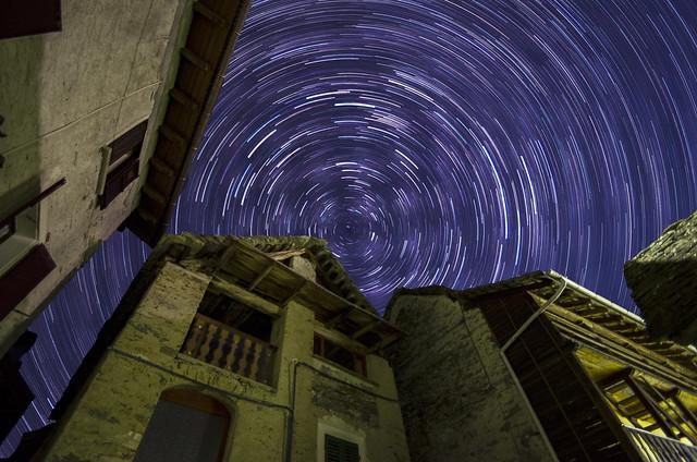 Star Trail in Val Sermenza