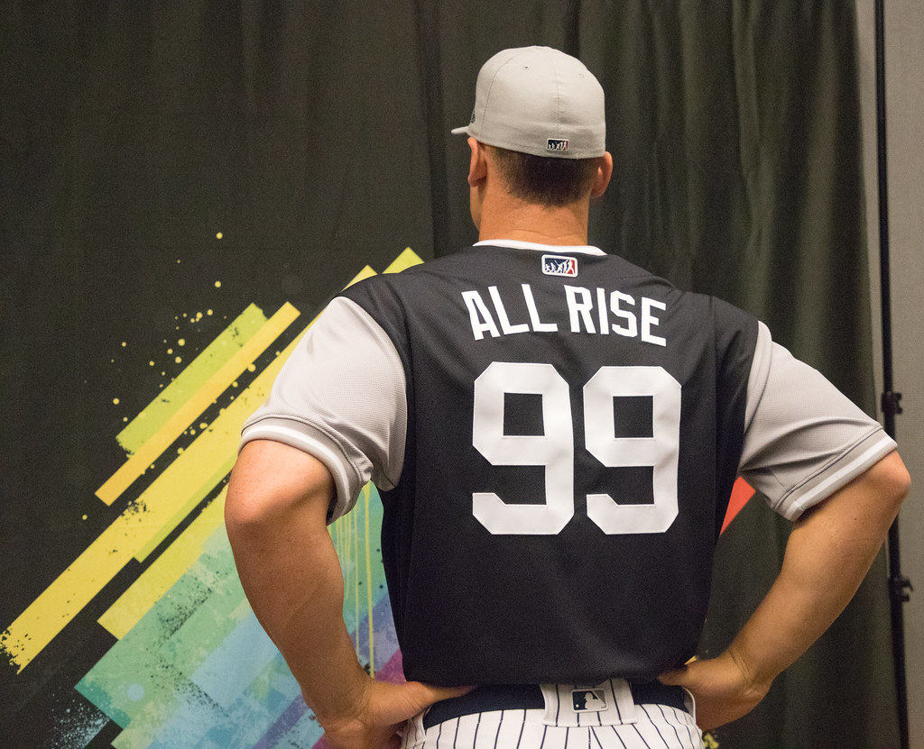 05bac9ca47b by apardavila All Rise! Aaron Judge shows off his  PlayersWeekend jersey.