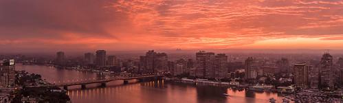 giza gizaplateau nileriver nile cairo egypt panorama sunset