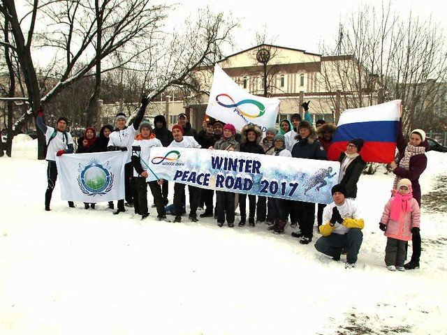 Russia-2017-01-19-Muscovites Take the Plunge in 'Winter Peace Road'