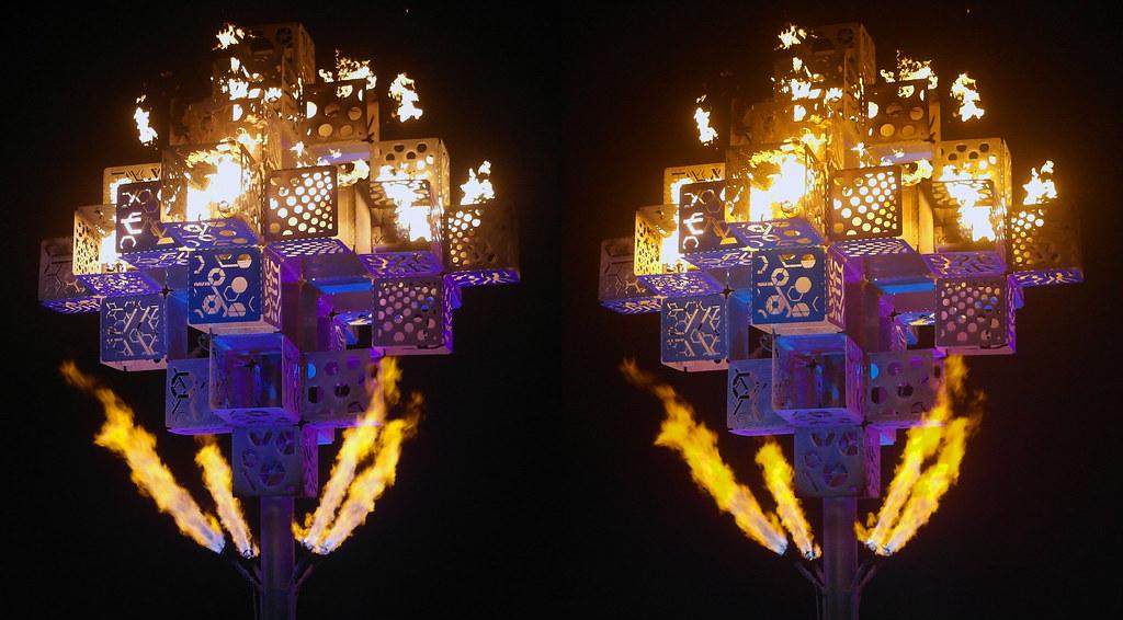 Burning Man 2017 - Noetica - 3D - Cross-View