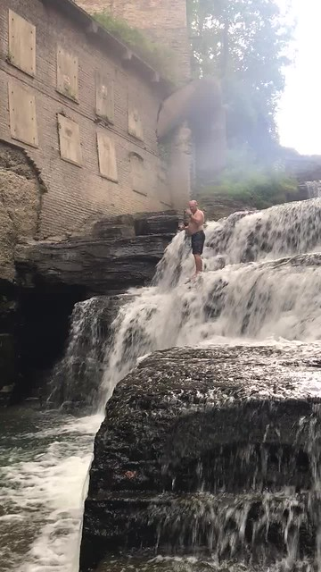 Waterfall at First Dam - Ithaca, NY
