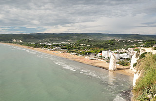 Vieste beach from above