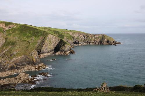 varleyhead portisaac cornwall england coast cliffs sea ocean atlantic coastline shore scenery tourism